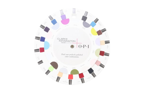Cosmetics nail color wheel