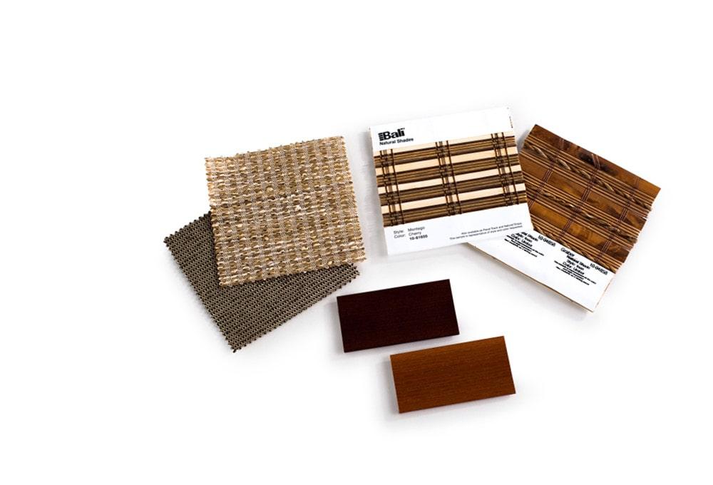 Window treatment samples